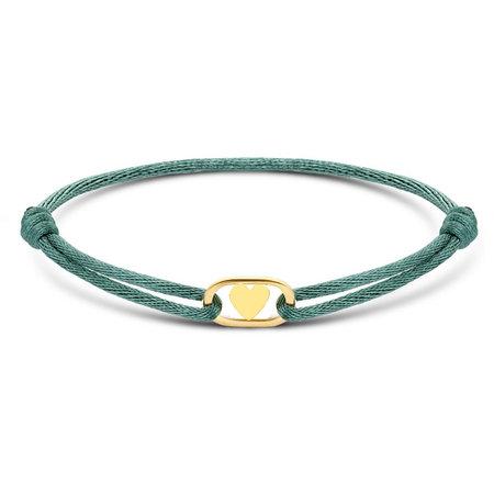 Minitials Minitials One Signature Oval Heart geelgoud satin bracelet 607749