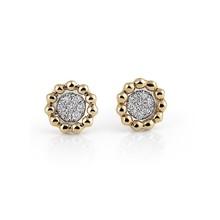 AL CORO AL CORO Palladio Oorstekers 18k Geelgoud met 0.09ct diamant E2171G