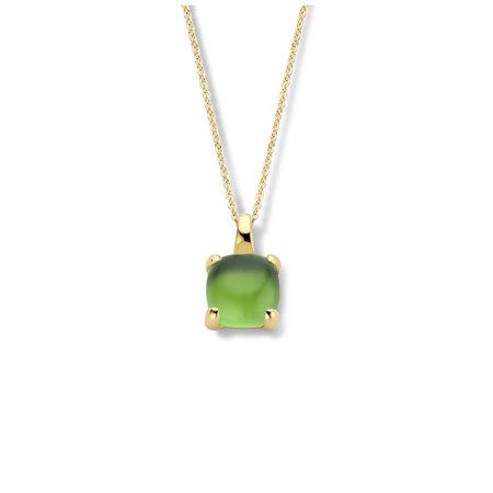 Jarrèl Jarrèl Collier Lucca 14k Geelgoud met groene jade 4Y.7313.JG2.GQC