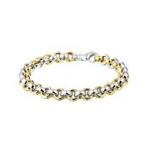HuisCollectie HuisCollectie Armband 14k Bi-color goud Jasseron schakel 22715