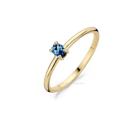 Blush Blush ring 14k geelgoud met London Blue Topaas 1204YLB