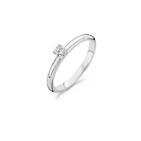 Blush Blush ring 14k witgoud solitair met zirkonia 1112WZI/54