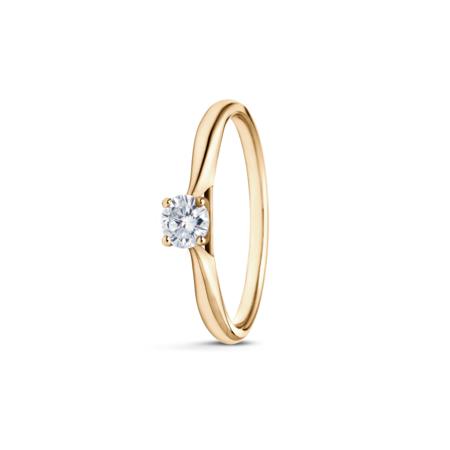 R&C R&C ring  Faye geelgoud 14k diamant RIN2124-0.21SI