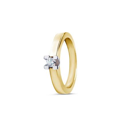 R&C R&C Ring Ramon 14k geelgoud met 0.20ct Si diamant RIN0930-0.20 SI
