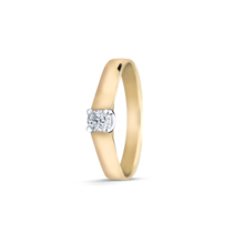 R&C R&C Ring Marise 14krt geelgoud met briljant 0.10ct si RIN0081
