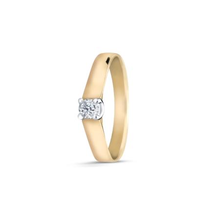 R&C R&C Ring Marise 14krt geelgoud met briljant 0.10ct si RIN0081