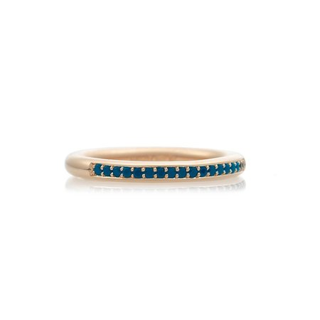 Bron BRON Ring stax 2.7mm 18k Roségoud Ice Blue diamant 0.18ct 8RR4593IBR
