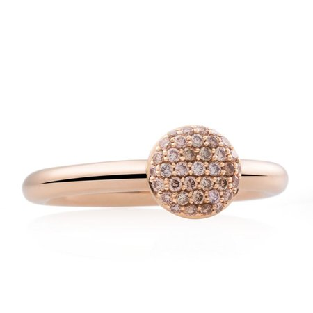 Bron BRON Ring Stardust Mini 18k Roségoud met champagne diamant 8RR4850CBR