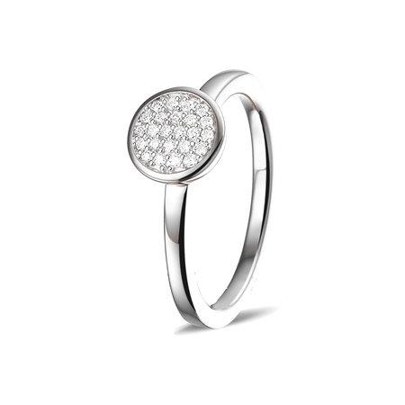 Mrs.Janssen Mrs.Janssen Ring 14k Witgoud met 0.12ct diamant 604199