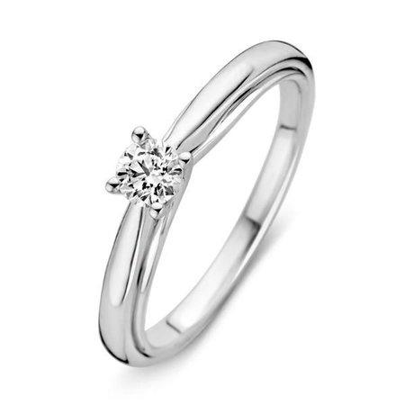 HuisCollectie Huiscollectie Ring 14k Witgoud met 0.25ct diamant 602911