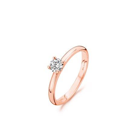 Blush Blush ring 14k roségoud 4mm 1132RZI met zirkonia