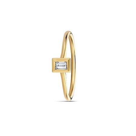 MissSpring Miss Spring Ring Brilliantly Bezel MSR613DI geelgoud met baquette briljant  0.12crt