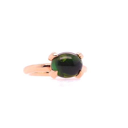 Bron BRON Ring Catch 18k Roségoud met groene toermalijn 8RR4812GTC