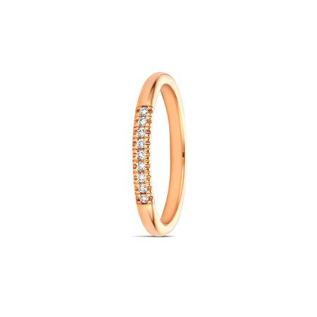 MissSpring Miss Spring Ring MSR630 roségoud met 9x 0.01 crt diamant PW