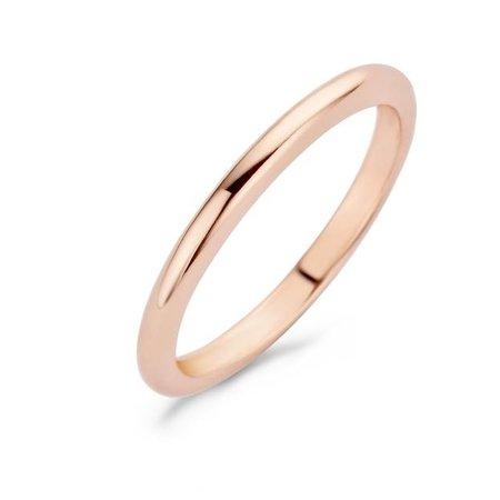 Blush Blush Ring 14k Roségoud halfrond 1117RGO-54