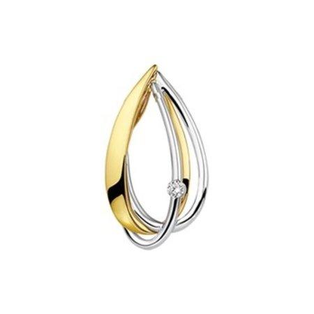 HuisCollectie HuisCollectie Bicolor Hanger Diamant 14k 0.04ct 25503