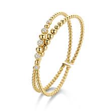Tirisi Moda TIRISI Armband Amsterdam 18k geelgoud met 0.35ct diamant TB2070D