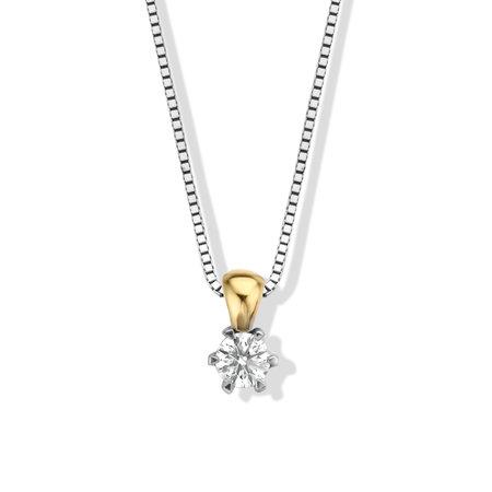 Mrs.Janssen MRS. Janssen Solitair Hanger 18k Geelgoud met 0.30ct TW/Si Diamant  605428