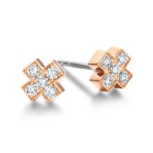 Bron BRON Oorknoppen Joy 18k Roségoud met 0.20ct diamant 8OR4805BR