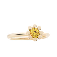 Bron BRON Ring Sprite Mini Geelgoud 18k met geel korund 8RG4849YK
