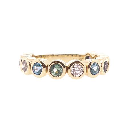 Bron BRON Ring Confetti 18k Geelgoud met champagne diamant en korund 8RR4707DAWN
