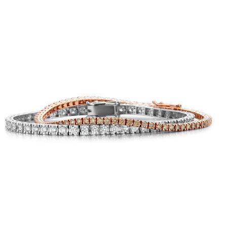 HuisCollectie HuisCollectie Tennisarmband 18k witgoud met 3.05ct diamant D-E/SI