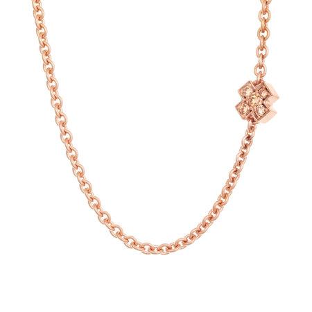 Bron BRON Collier Joy Roségoud 18k met diamant 0.10ct en saffier 8CR440545CBRZK