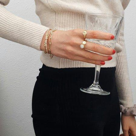 Mrs.Janssen Mrs.Janssen Armband 14k witgoud  close-for-ever ovale schakels 19cm 608045