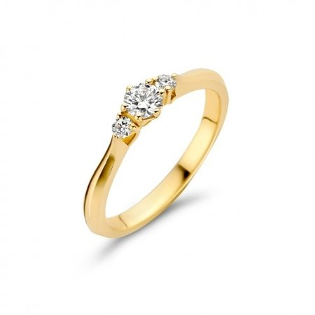 Mrs.Janssen MRS.Janssen Ring 14k geelgoud met diamant 0.20crt G/Si 608155