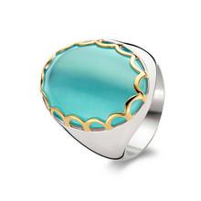 Ti Sento Ti Sento Ring Zilver gerhodineerd met groene steen 1883AG maat 56