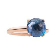Bron BRON Ring Catch Roségoud 18k met London Blue Topaas 10mm 8RR4782TLR