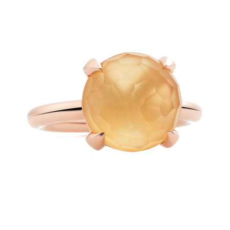 Bron BRON Ring Catch Roségoud 18k met Citrien 12mm 8RR4783CIR