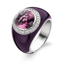 Ti Sento Ti Sento Ring Zilver gerhodineerd met paars keramiek en zirkonia  1844EA