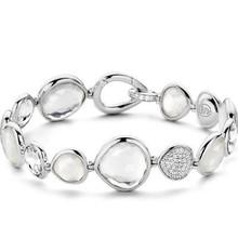 Ti Sento Ti Sento gerhodineerde zilveren armband met zirkonia en witte stenen 2891ZI