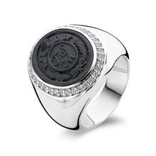 Ti Sento Ti Sento Ring Zilver gerhodineerd met camé en zirkonia's 1762GL maat 56