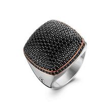Ti Sento Ti Sento Ring Zilver gerhodineerd met zwarte zirkonia 1929BR maat 56