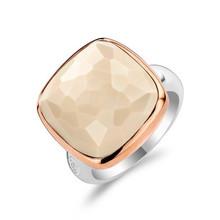 Ti Sento Ti Sento Ring Zilver gerhodineerd met Nudekleurige steen 1966NU maat 56
