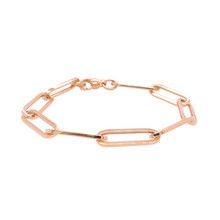 Mrs.Janssen Mrs.Janssen Armband 14k Roségoud  close-for-ever ovale schakels 19cm 608150