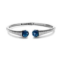 Ti Sento Ti Sento gerhodineerde zilveren armband met blauwe zirkonia 2751TP