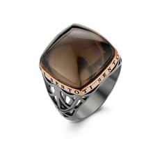 Ti Sento Ti Sento Ring Zilver zwart verguld met bruine zirkonia 1930BR maat 56