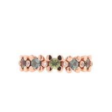 Bron BRON Ring Phlox 18k roségoud met korund en diamant 8RR4815PKBR