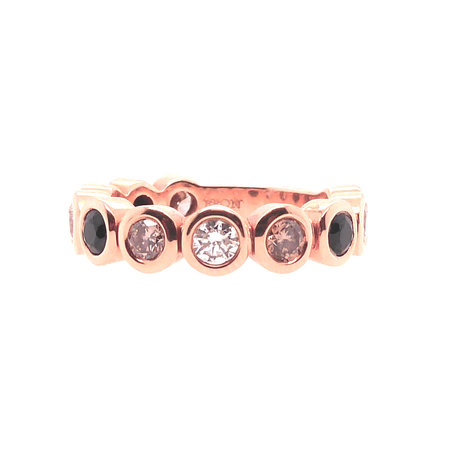 Bron BRON Ring Confetti 18k Roségoud met diamant en korund 8RR4707TUX