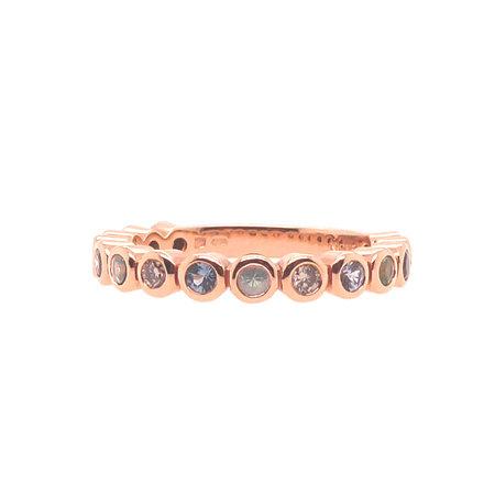 Bron BRON Ring Confetti Roségoud 18k met blauw korund 8RR4713DAWN