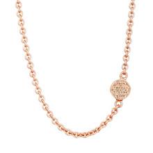 Bron BRON Collier Joy Roségoud 18k met champagne diamant 0.10ct 8CR440445CBR