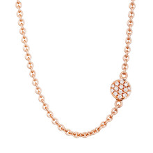 Bron BRON Collier Joy Roségoud 18k met diamant 0.20ct G/VVS-1 8CR441145BRCBR