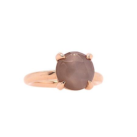 Bron BRON Ring Catch Roségoud 18k met maansteen 10mm 8RR4782MGB