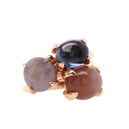 Bron BRON Ring Catch Roségoud 18k met grijs saffier 10mm 6RR4751SAS