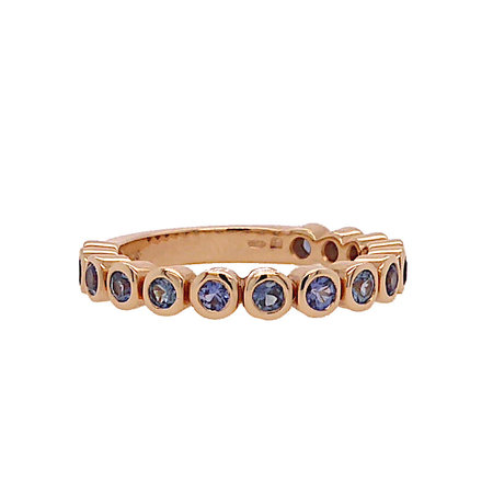 Bron BRON Ring Confetti Roségoud 18k met blauw saffier 8RR4713LAKE