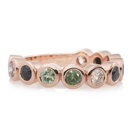 Bron BRON Ring Confetti 18k Roségoud met champagne diamant en korund 8RR4707KIWI
