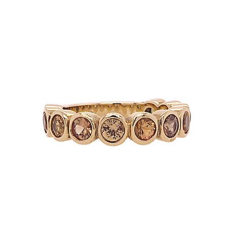 Bron BRON Ring Confetti 18k Geelgoud  gele/oranje korund 6RG47070K